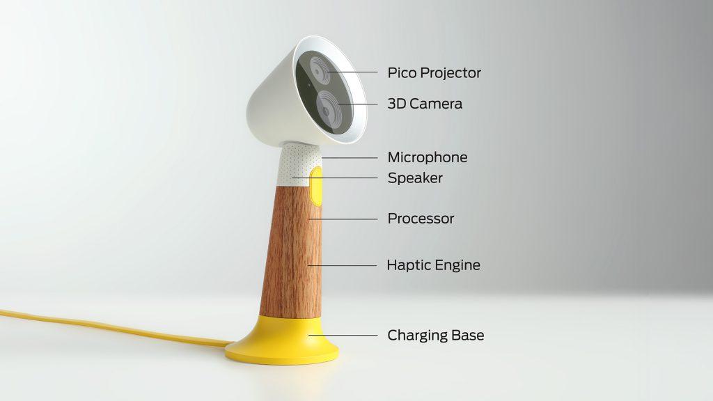 Spot - uitgerust met 3D camera, pico-projector en kunstmatige intelligentie