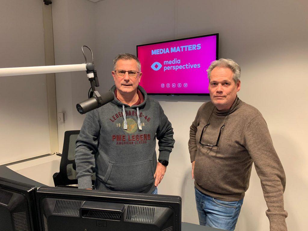 Bert Kok en Rick van Dijk van MediaMatters-radioshow