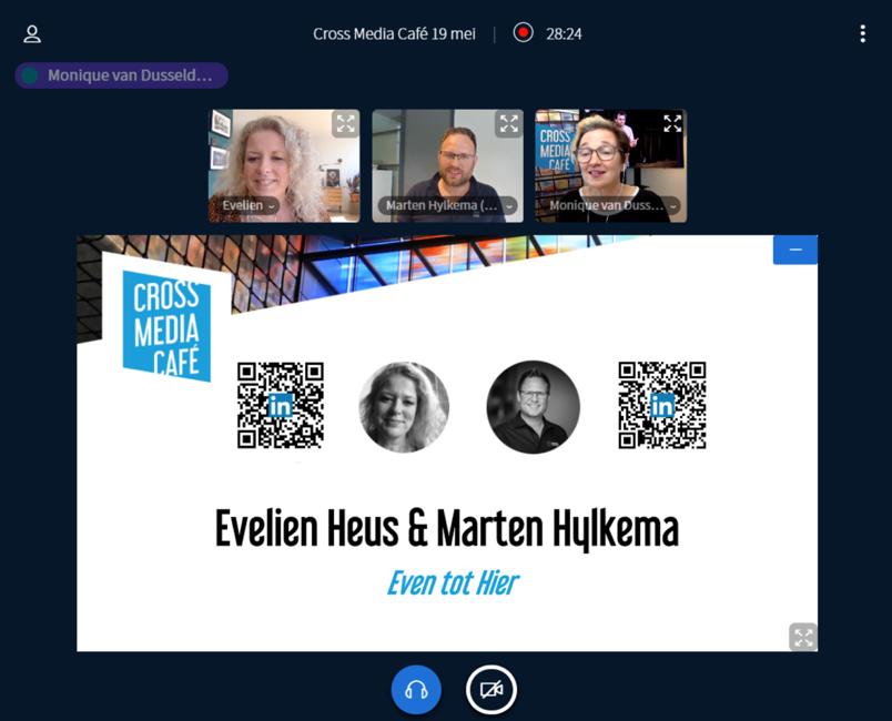 Schermafbeelding van Evelien Heus en Marten Hylkema © Media Perspectives