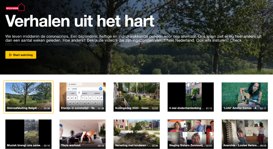 Schermafbeelding van beeldverhalen op Verhalen uit het hart © Nederlands Instituut voor Beeld en Geluid