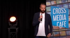 Willem Brom (EndemolShine) tijdens Cross Media Café - Video voor nieuwe platforms